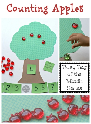 Counting Apples Busy Bag from The Educators' Spin On it